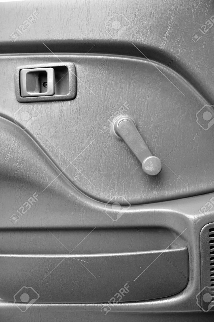 Car Door Inside With Door Handle And Manual Door Window Regulator ...