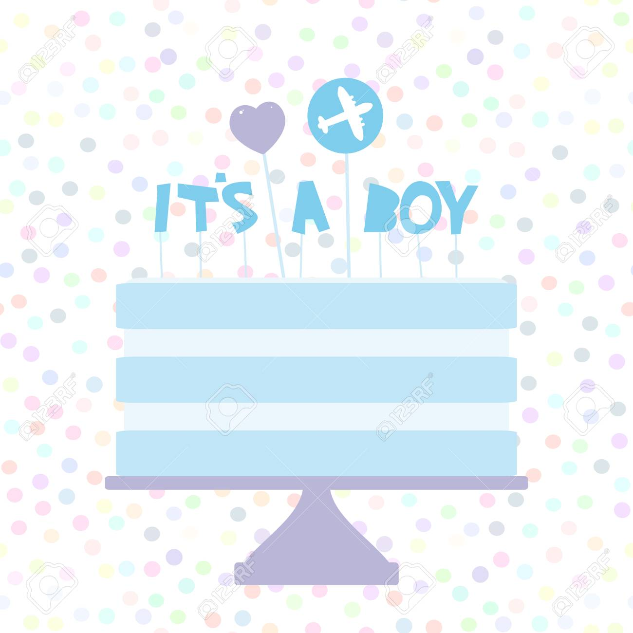 its a boy sweet blue cake blue cream heart plane baby shower