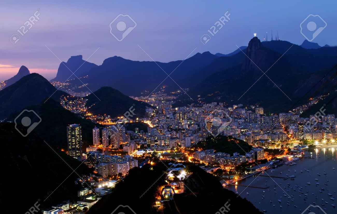 Night view of Botafogo in Rio de Janeiro Stock Photo - 13061803