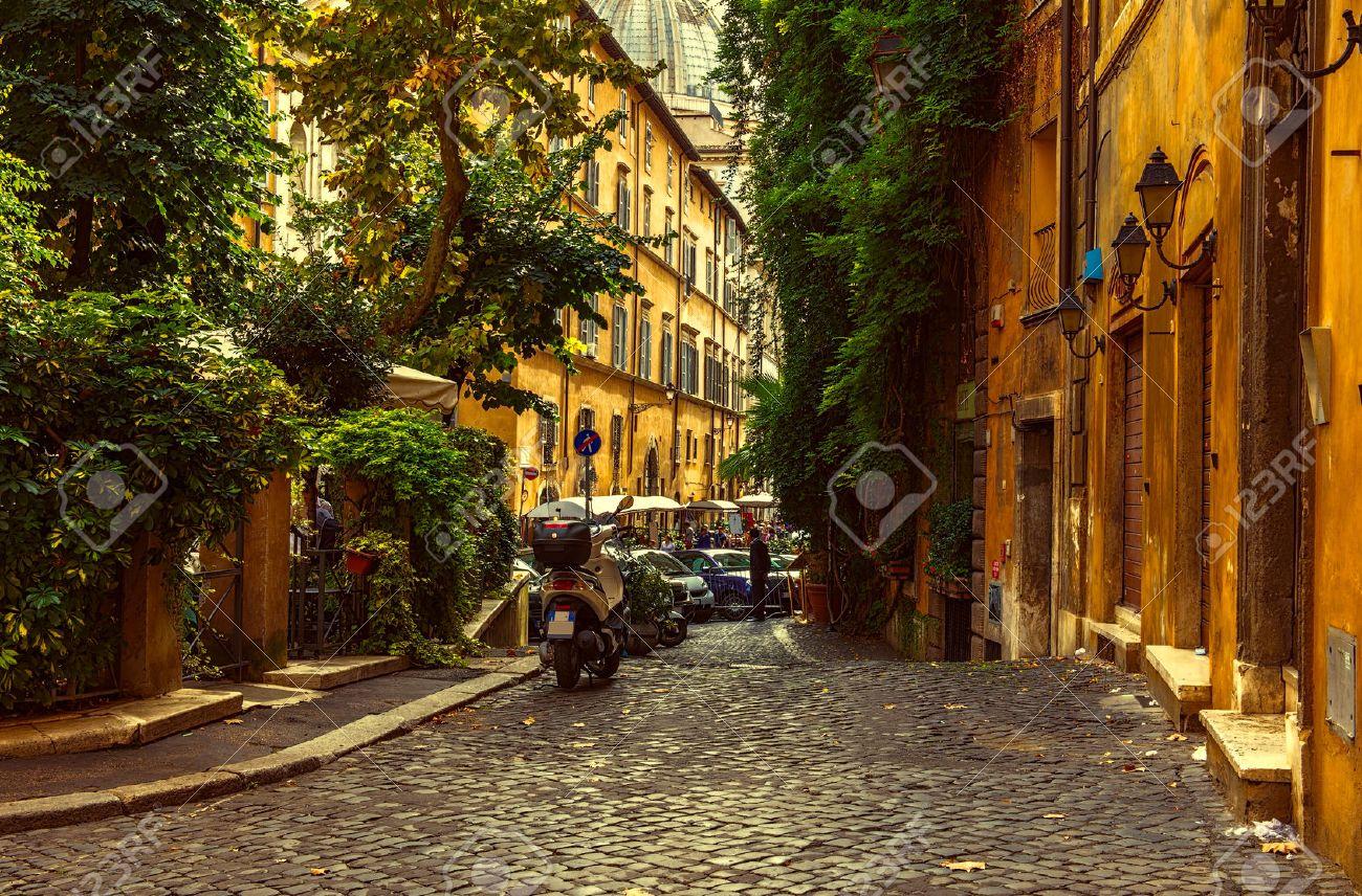 Old Street Trastevere Rome Italy Trastevere Stock Photo 173430884 ...