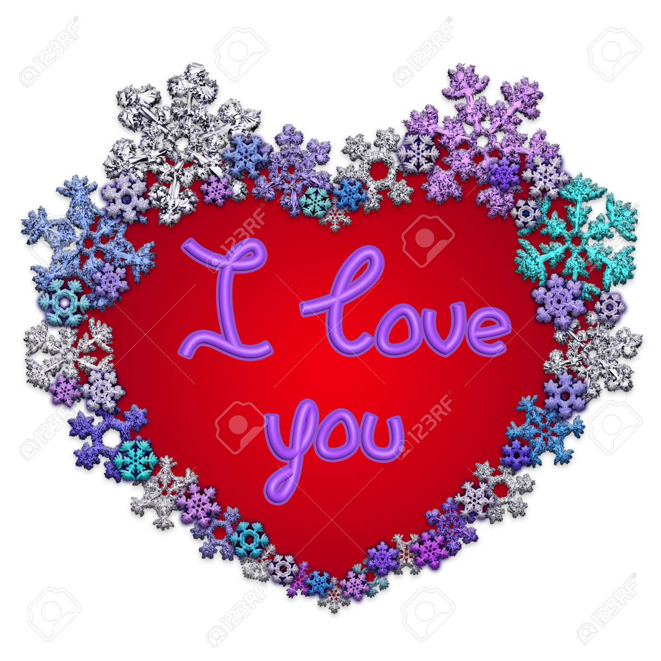 Beautiful Red Heart With Lettering I Love You Made Of Different Stock Photo Picture And Royalty Free Image Image 94247968