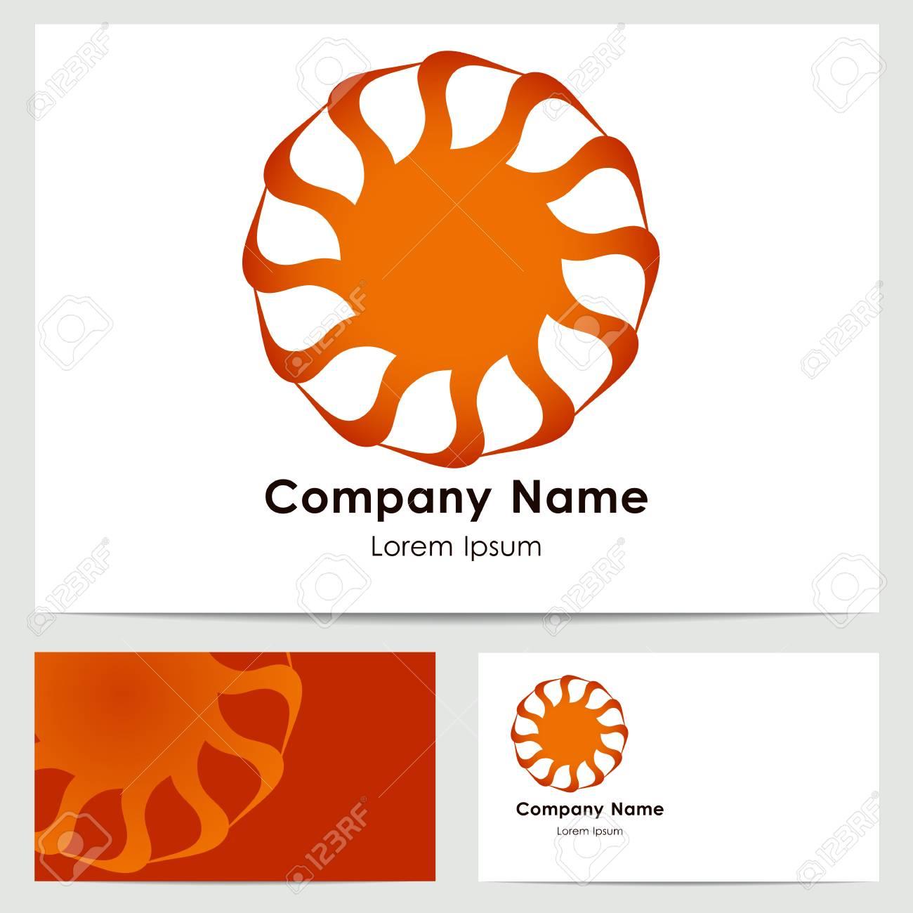 Business card template abstract logo sun royalty free cliparts business card template abstract logo sun stock vector 48899758 reheart Image collections