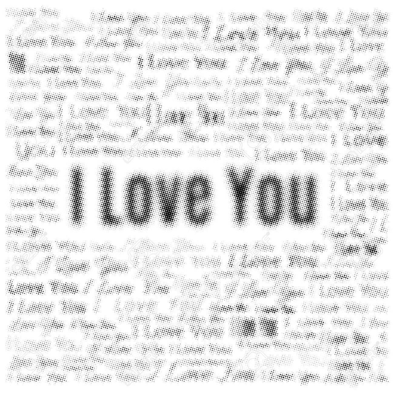 Medias Efecto De Un Collage De Frases Te Amo Fondo Del Amor Con El