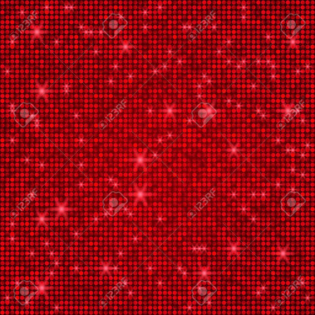 Shining Abstract Bright Red Seamless Mosaic Background Disco