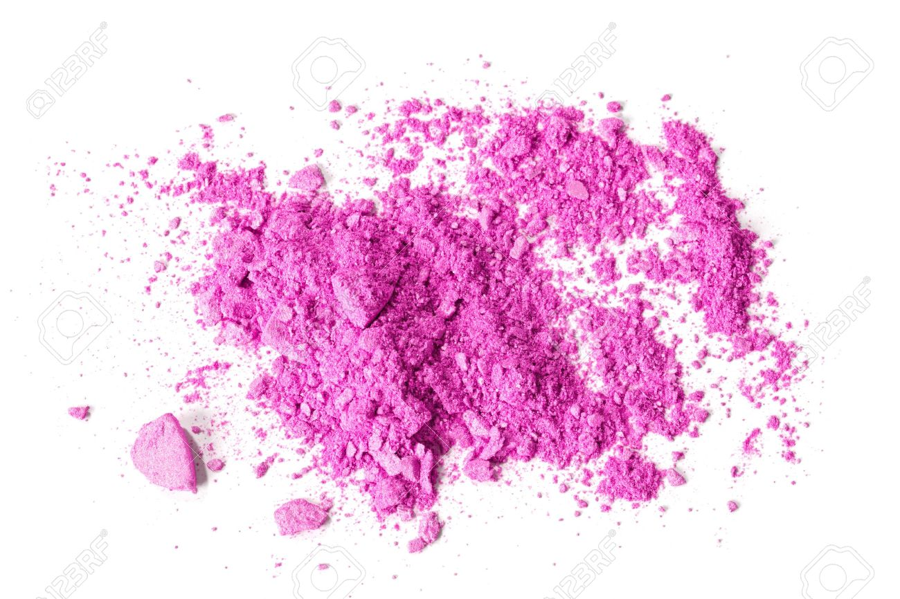 Crushed makeup on white background  The eye shadows Stock Photo - 13056685