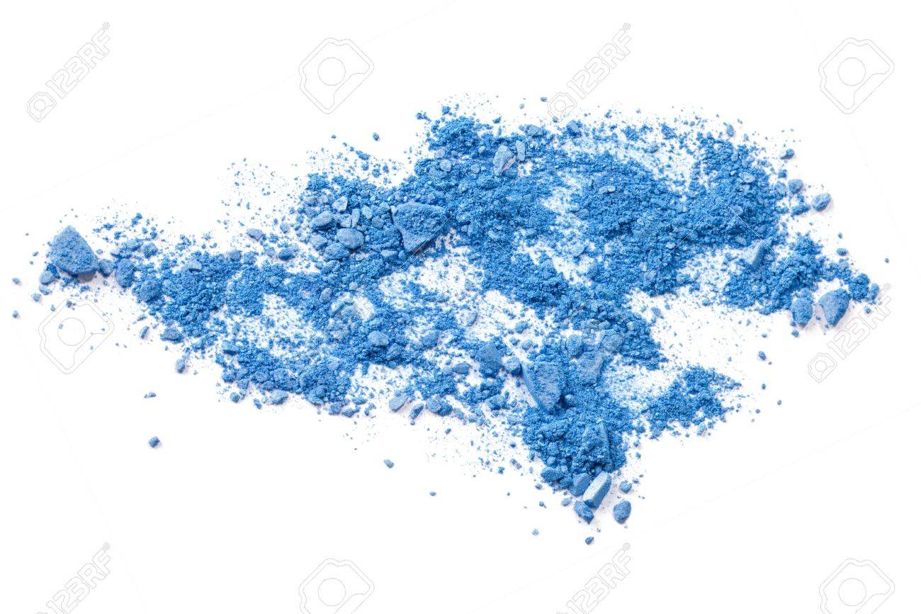 Crushed makeup on white background  The eye shadows Stock Photo - 13291622
