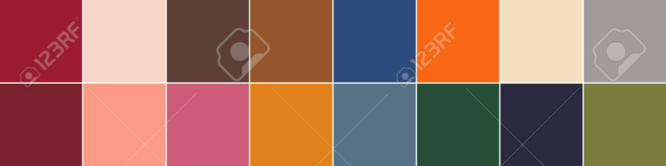 Fall Season 2020.16 Pantone Colors Of The Season Autumn Winter 2019 2020 Palette