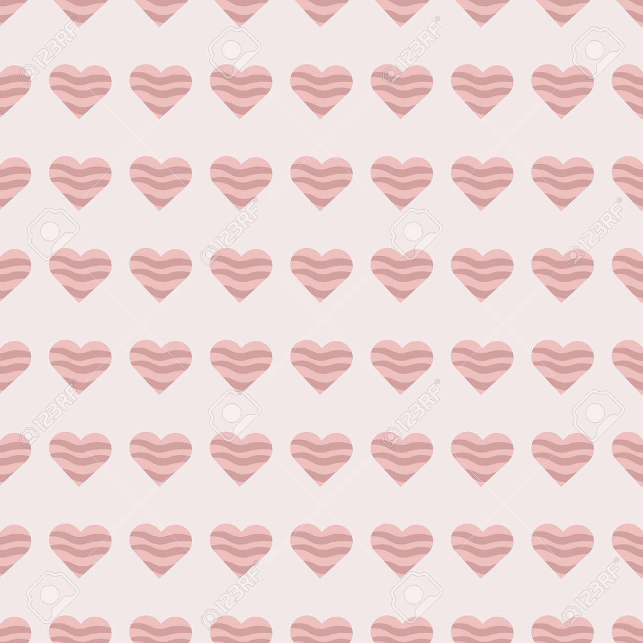 beautiful cute seamless pattern with pink heart shapes for valentines day holiday for textile and gift paper - 161212634