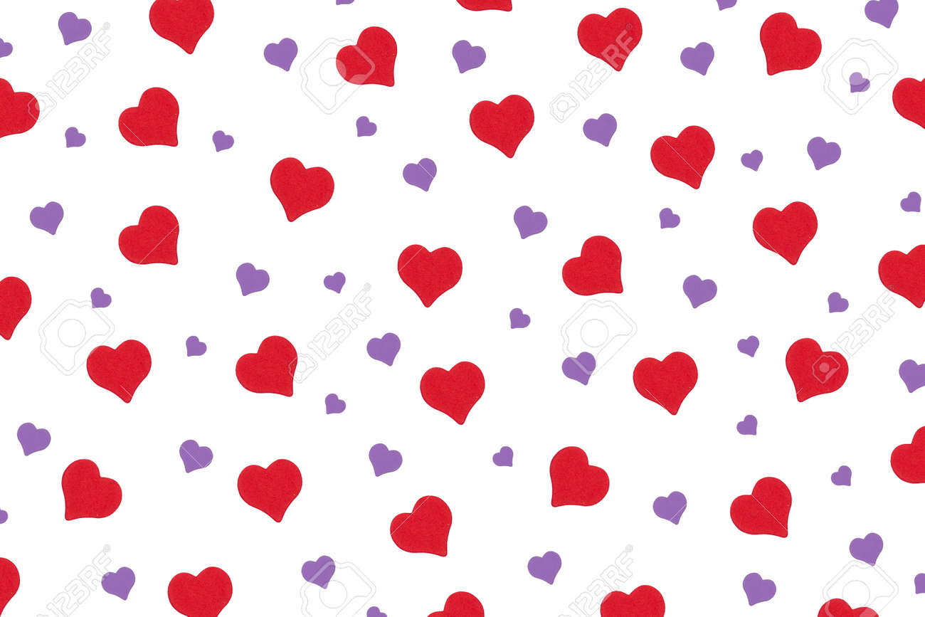 repeating pattern of hearts for the holiday valentine's day - 162711413