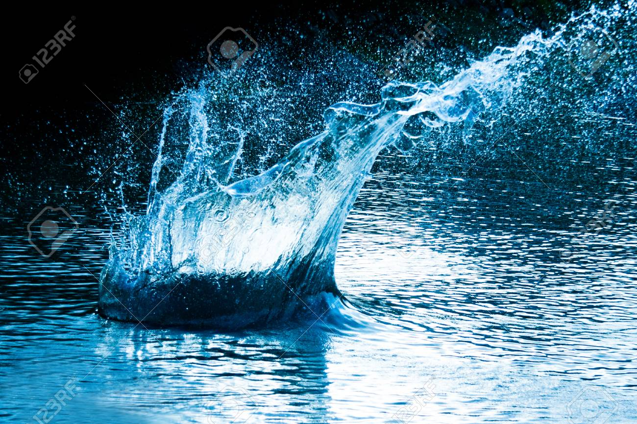 beautiful splash of blue water to drink Stock Photo - 24022802