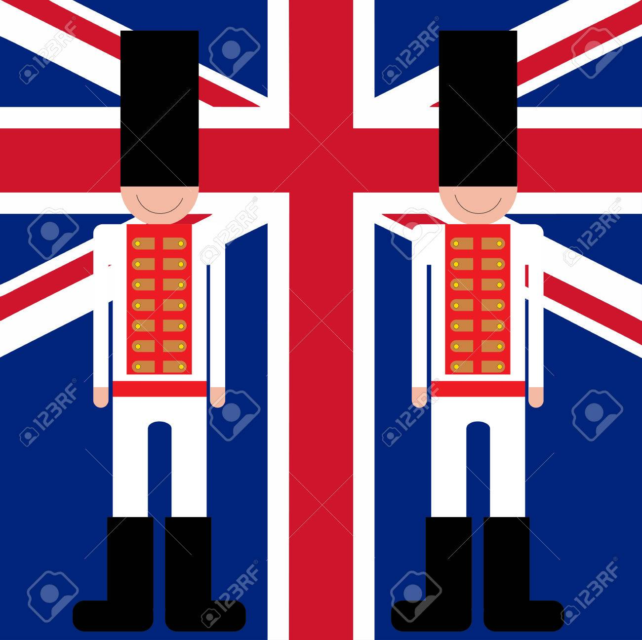 british royal guards stand guard in suits and hats royalty free