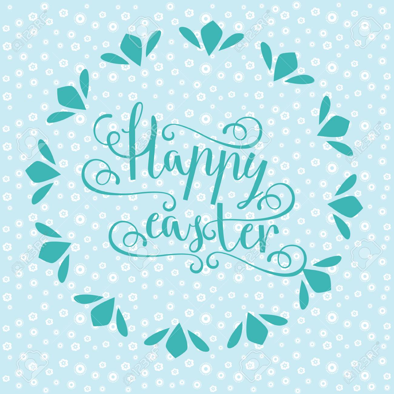 Easter Vector Bright Illustration Postcard A Happy Easter Greeting