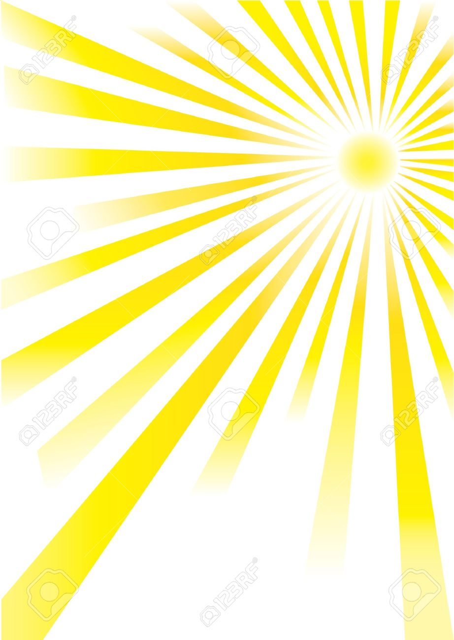 yellow sunrays of different lengths on white background royalty free rh 123rf com