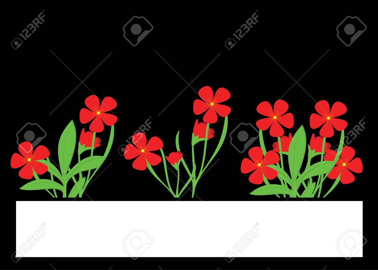 Red Flowers With Blank Space For Writing Onto Royalty Free Cliparts ...