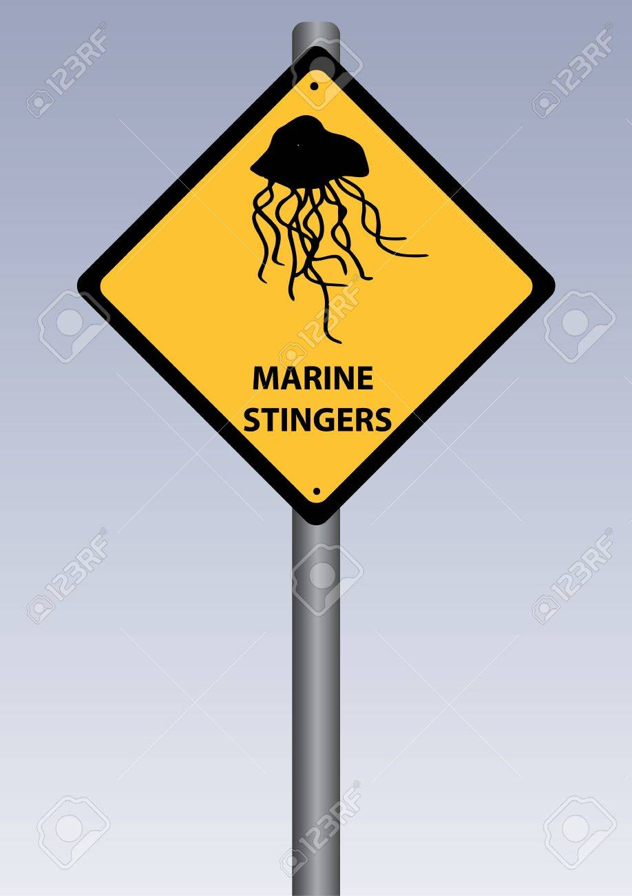 a yellow stinger sing of marine stingers Stock Vector - 19432593