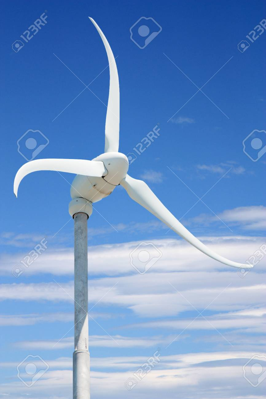 skystream with sky and clouds in background wind power