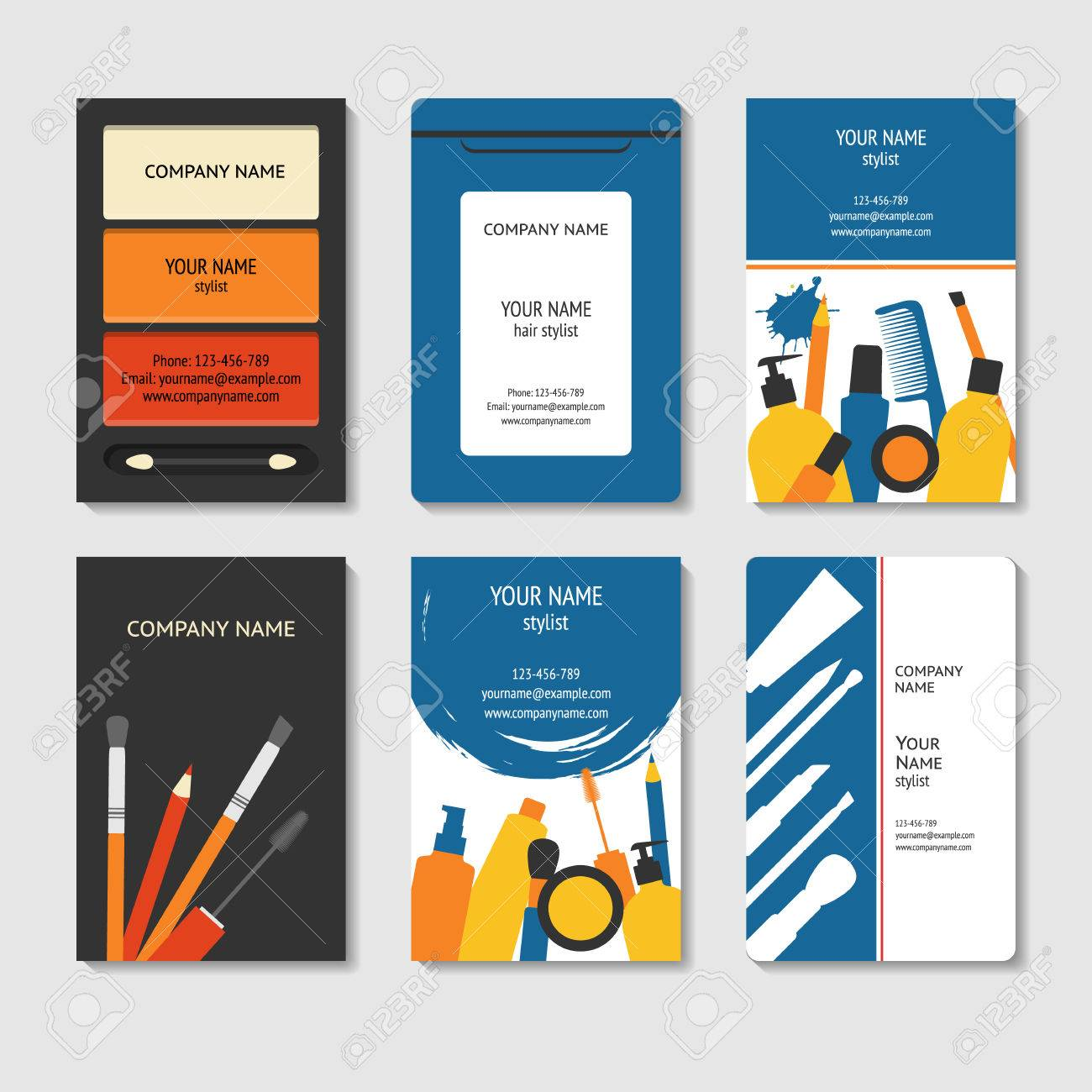 Cosmetic and beauty theme business cards set template for poster cosmetic and beauty theme business cards set template for poster colorful creative brochure colourmoves