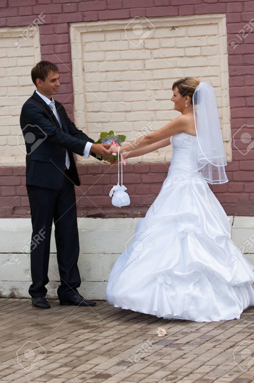 Hochzeit, Braut, Verheiratet, Liebe, Frauen, Glück, Kleid, Menschen ...