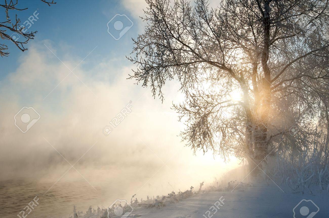 River winter in Russia. Tatarstan Kama Stock Photo - 17049097