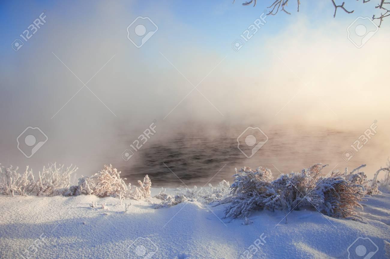 River winter in Russia. Tatarstan Kama Stock Photo - 17074085