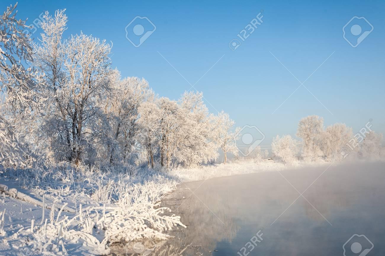 River winter in Russia  Tatarstan Kama Stock Photo - 17075026