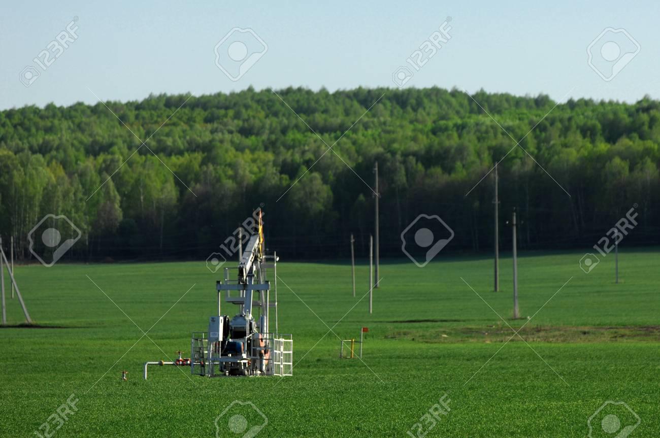 Oil rocking spring. Tatarstan, Russia Stock Photo - 18130142