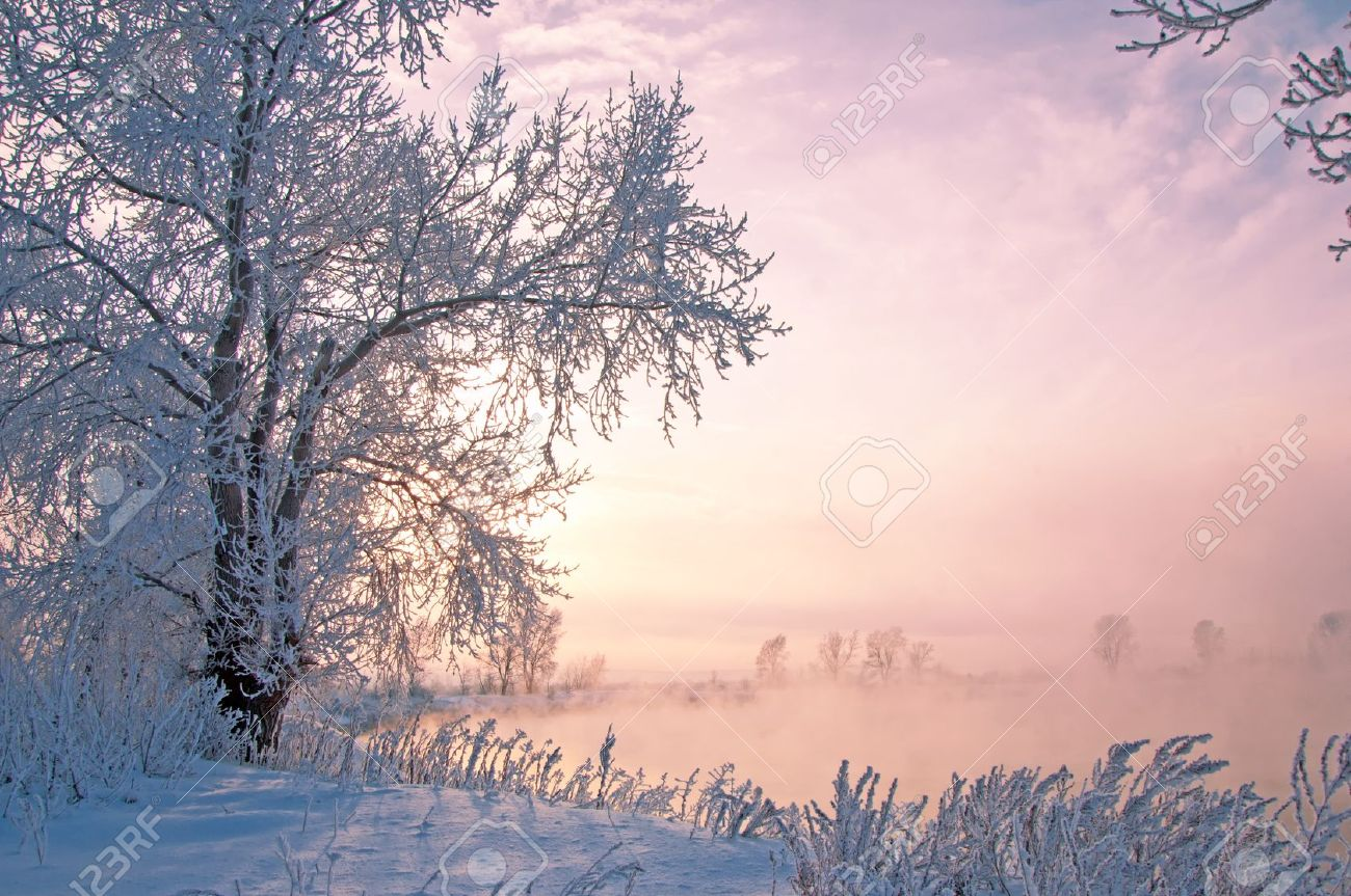 River winter in Russia. Tatarstan Kama Stock Photo - 19287946