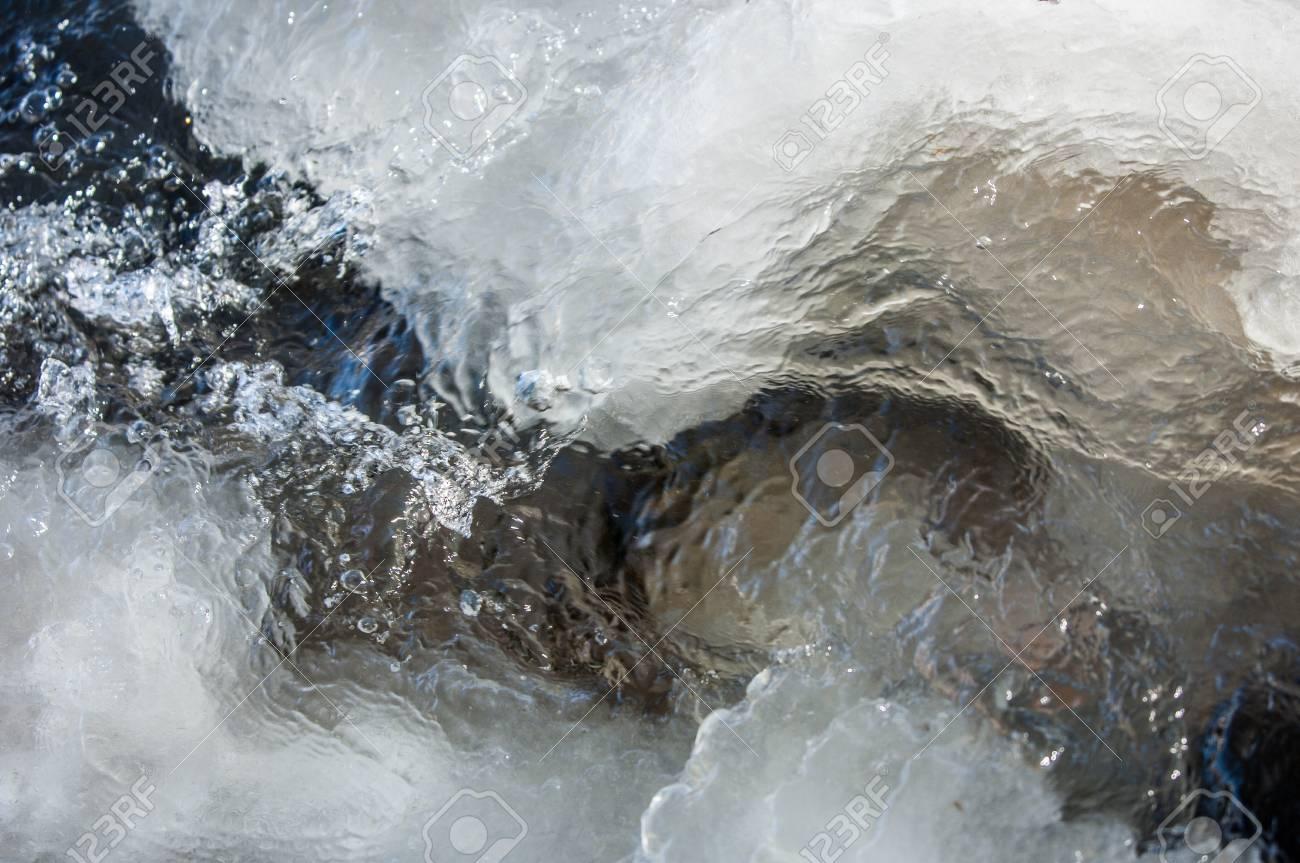 River ice. river in winter. winter creek. Stock Photo - 24758449