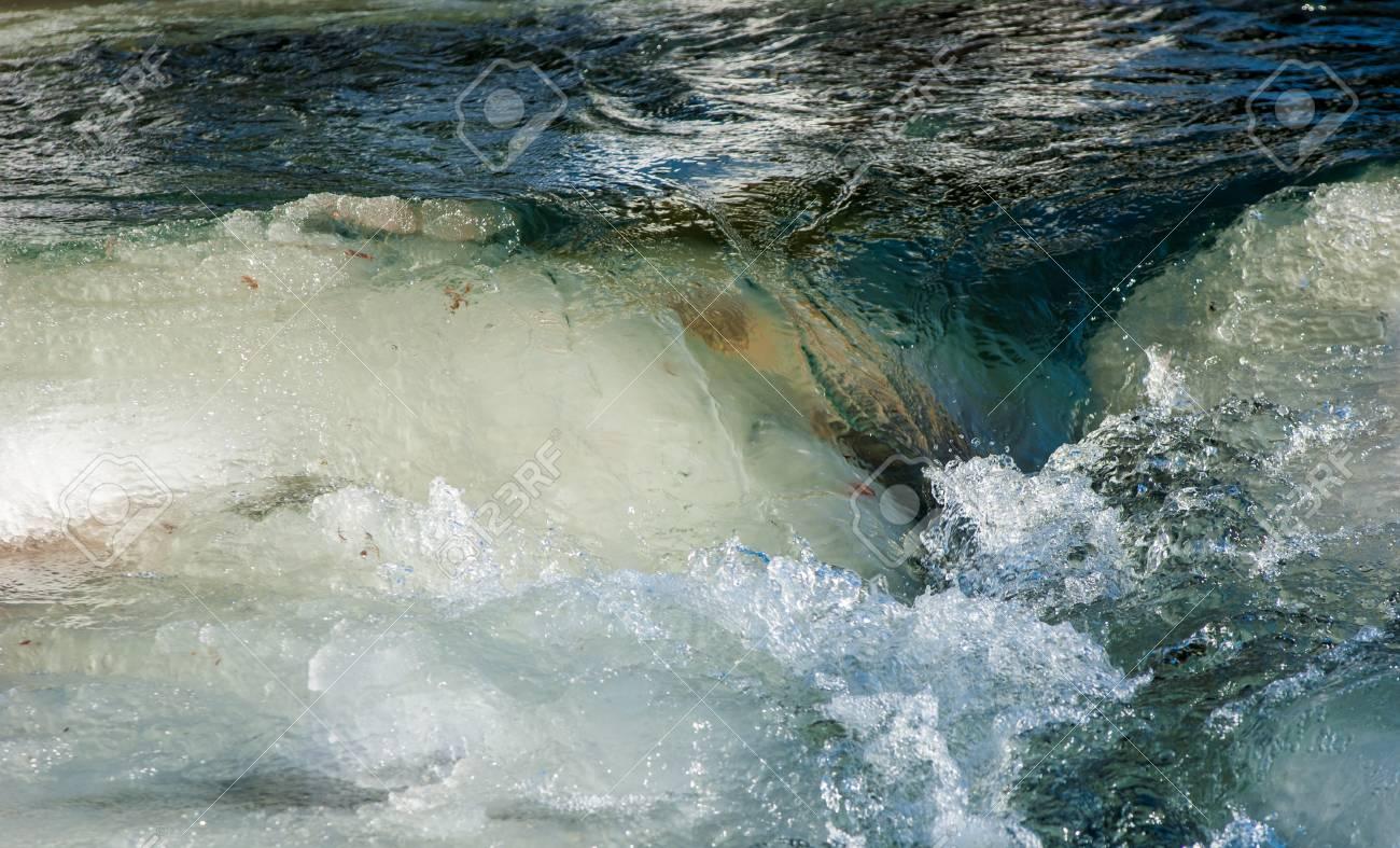 River ice. river in winter. winter creek. Stock Photo - 24758473