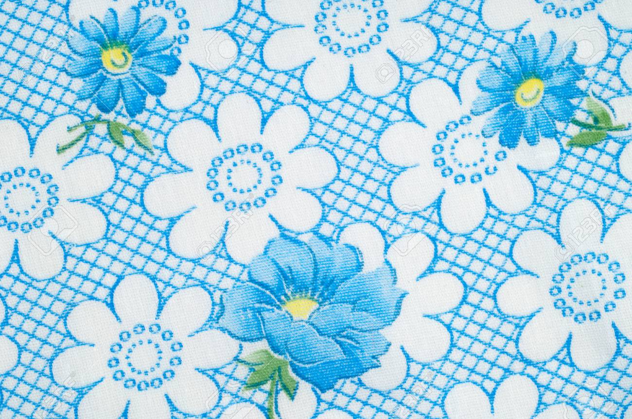 White fabric texture with blue flowers photography studio stock stock photo white fabric texture with blue flowers photography studio izmirmasajfo