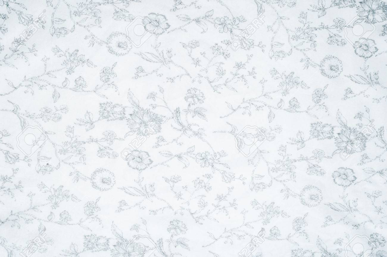 Cotton Fabric Texture, Background, White, With Painted Flowers ... for Soft White Cotton Texture  61obs