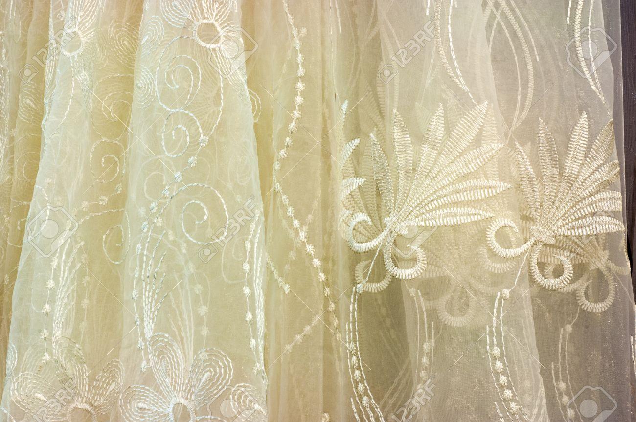 colorido translcido cortina de organza gasa cortinas de tela cortinas textiles para el hogar foto de