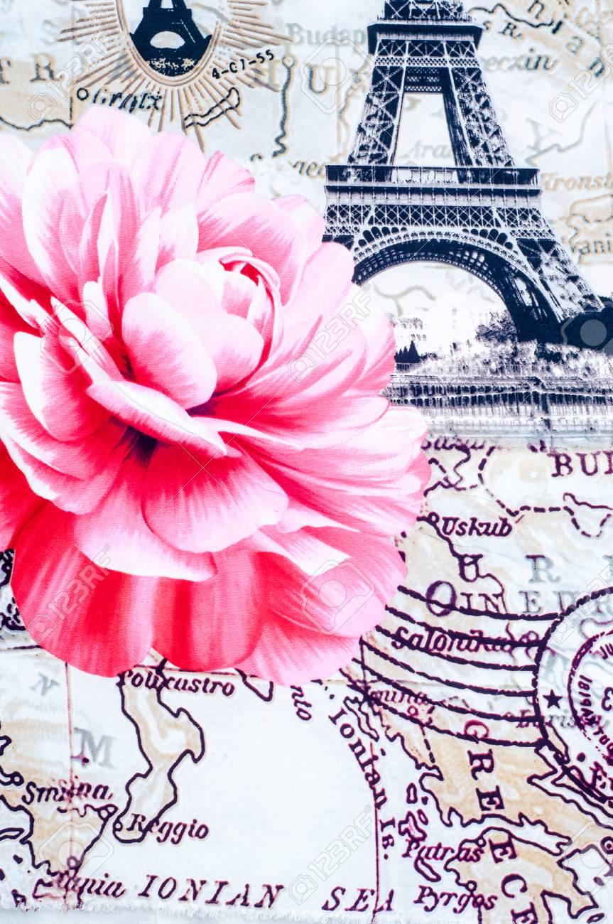 Textur Hintergrund Stoff Baumwolle Bettwäsche Eifel Mit Einem