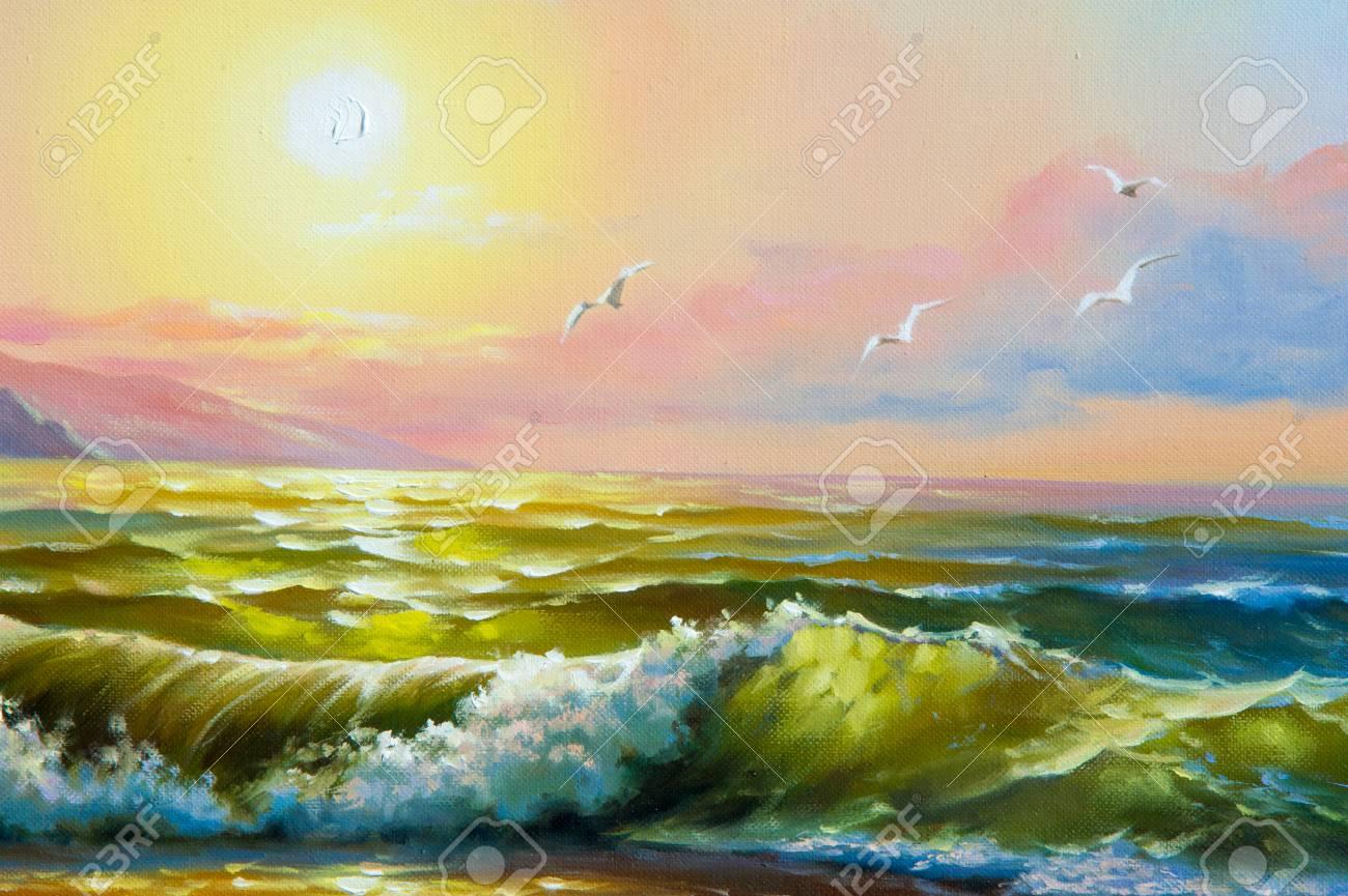 Tableau Peinture Huile Mer,Jusqu À 60% Moins