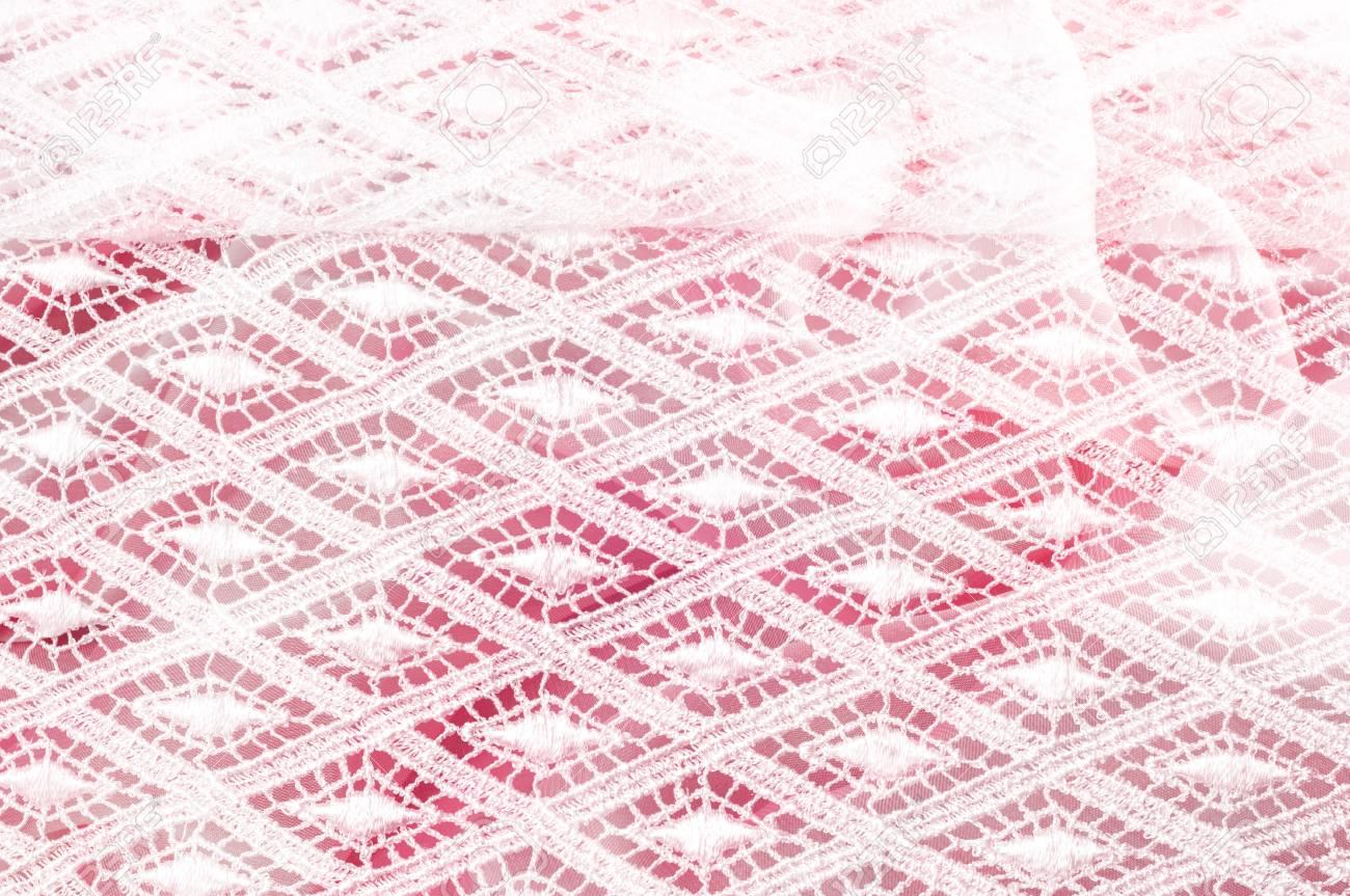 Patrón De Fondo De Textura. Tela Blanca De Encaje. Encaje De Mano ...