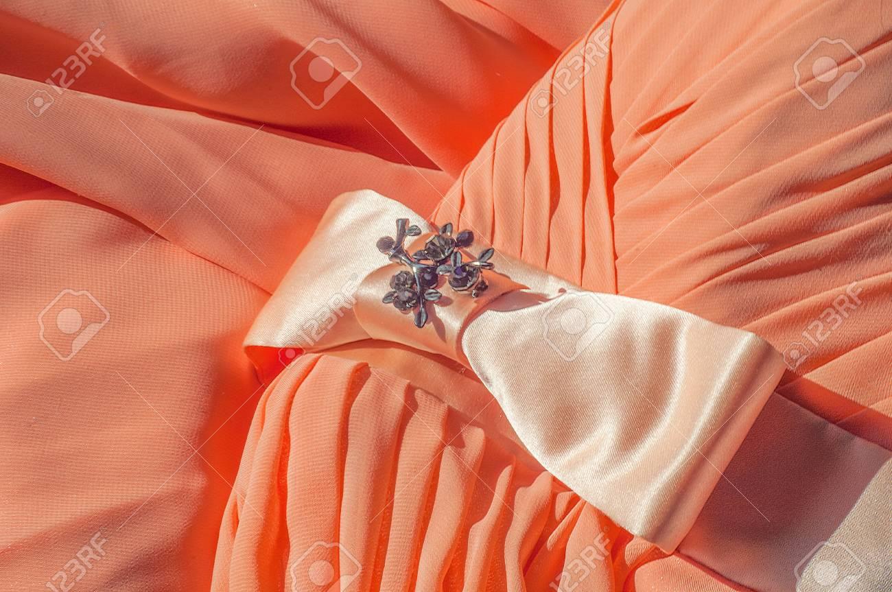 Texture, Background, Pattern. A Dress Of Light Orange Color ... for Background Pattern Light Orange  75tgx