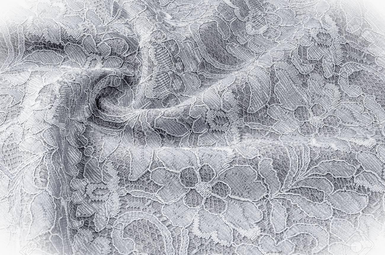 Textura De Imagem De Fundo Tecido Preto E Branco Com Um Padrão De Flores Rosa Grafica Estilizada Em Preto E Branco Desenho Preto E Branco De