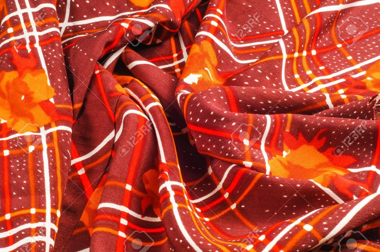 Fiori Gialli Borgogna.Immagini Stock Struttura Pattern Priorita Bassa Seta Del