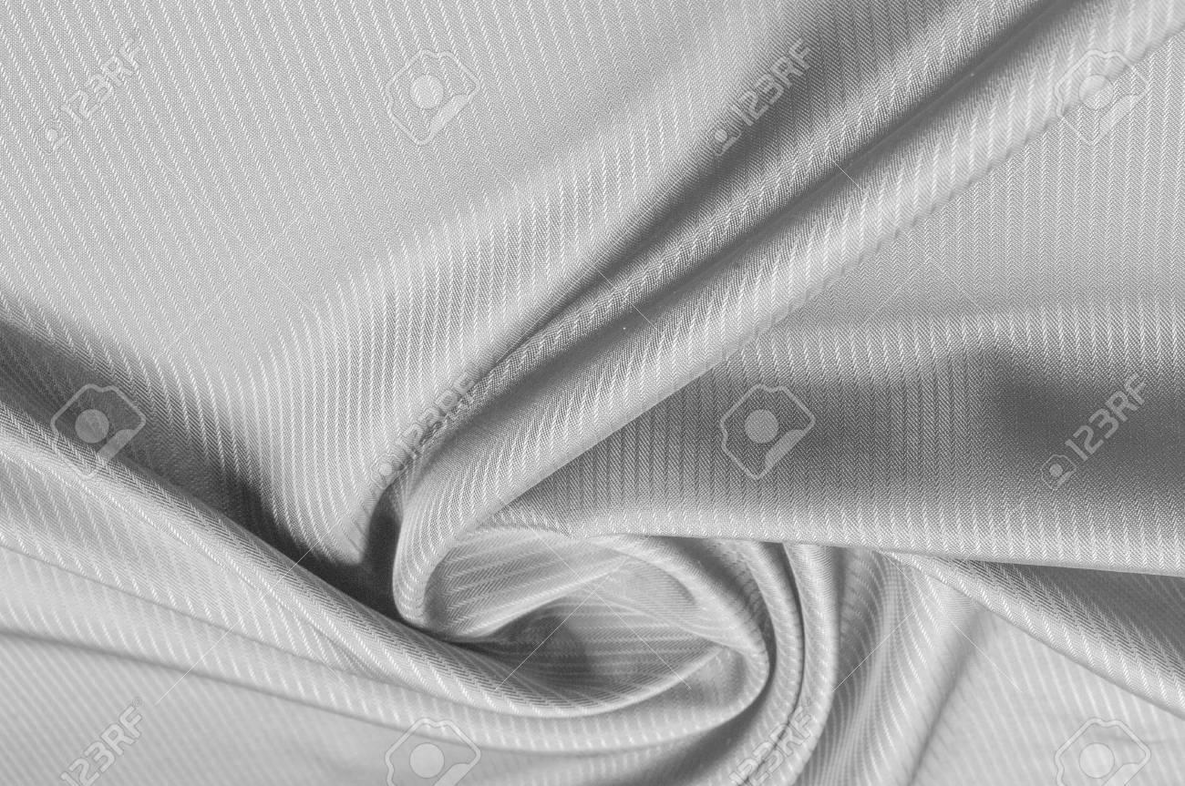 Patrón De Fondo, Textura La Tela De Seda Es Gris. Fondo Abstracto ...