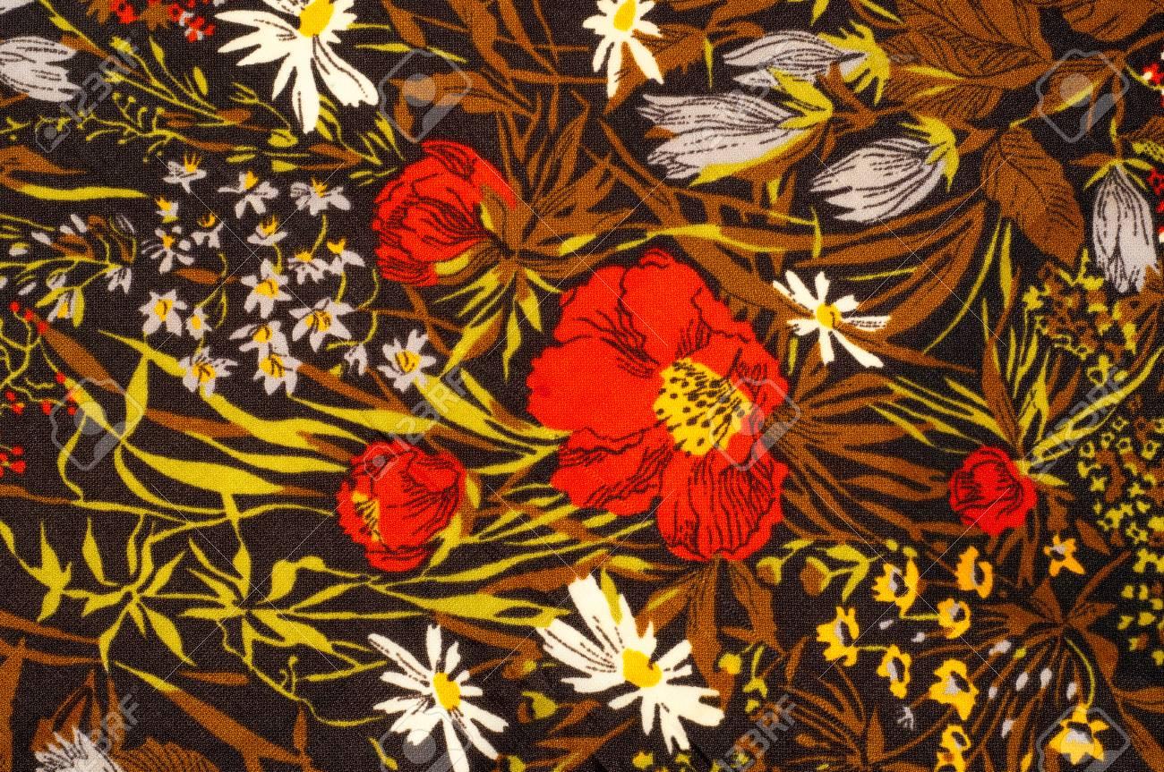 Texture Background Pattern Silk Fabric Dark Brown Painted