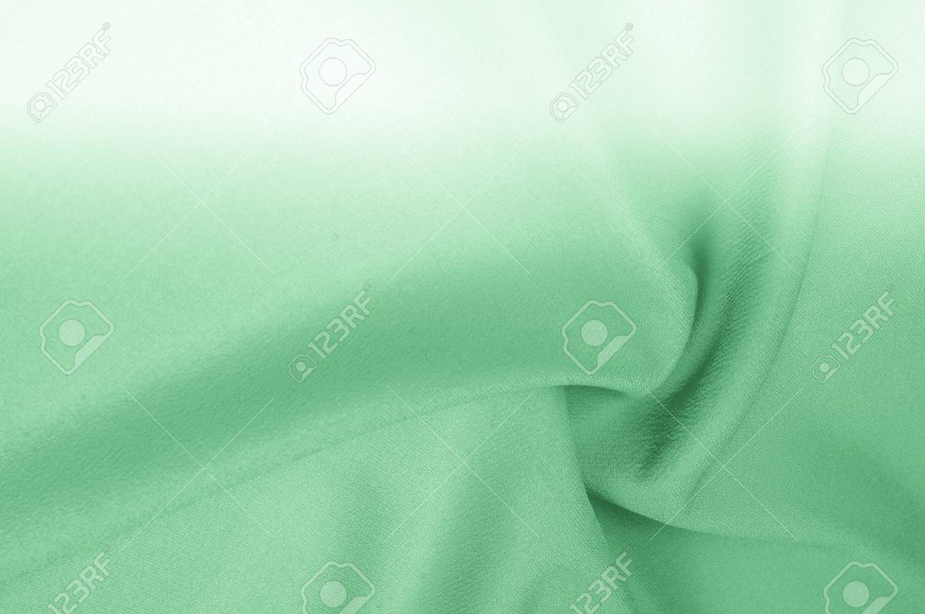 Background texture, pattern  silk fabric is green pale  At the