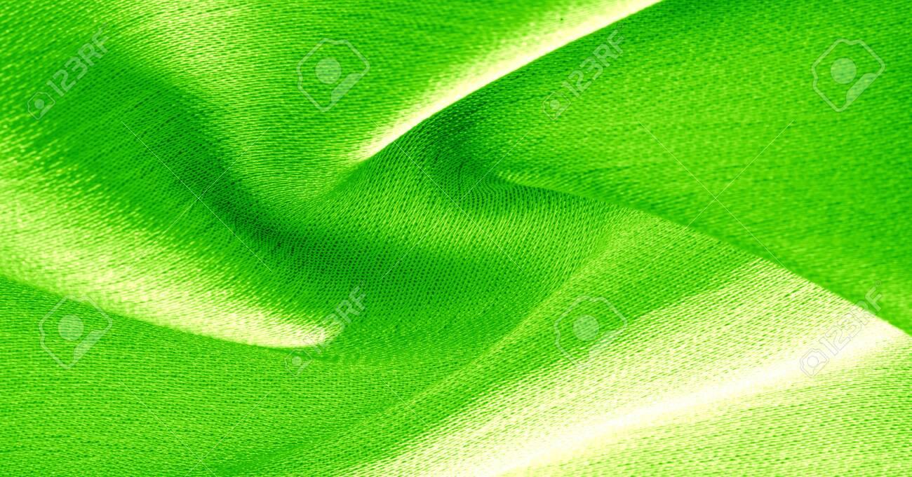 Background Pattern Texture Wallpaper Green Silk Fabric It