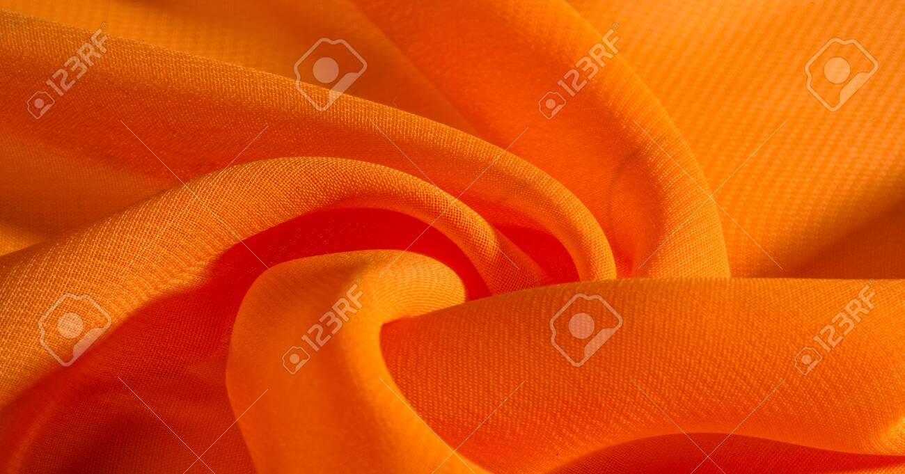 Background Pattern Texture Orange Silk Fabric Has A Brilliant Stock Photo Picture And Royalty Free Image Image 138633044
