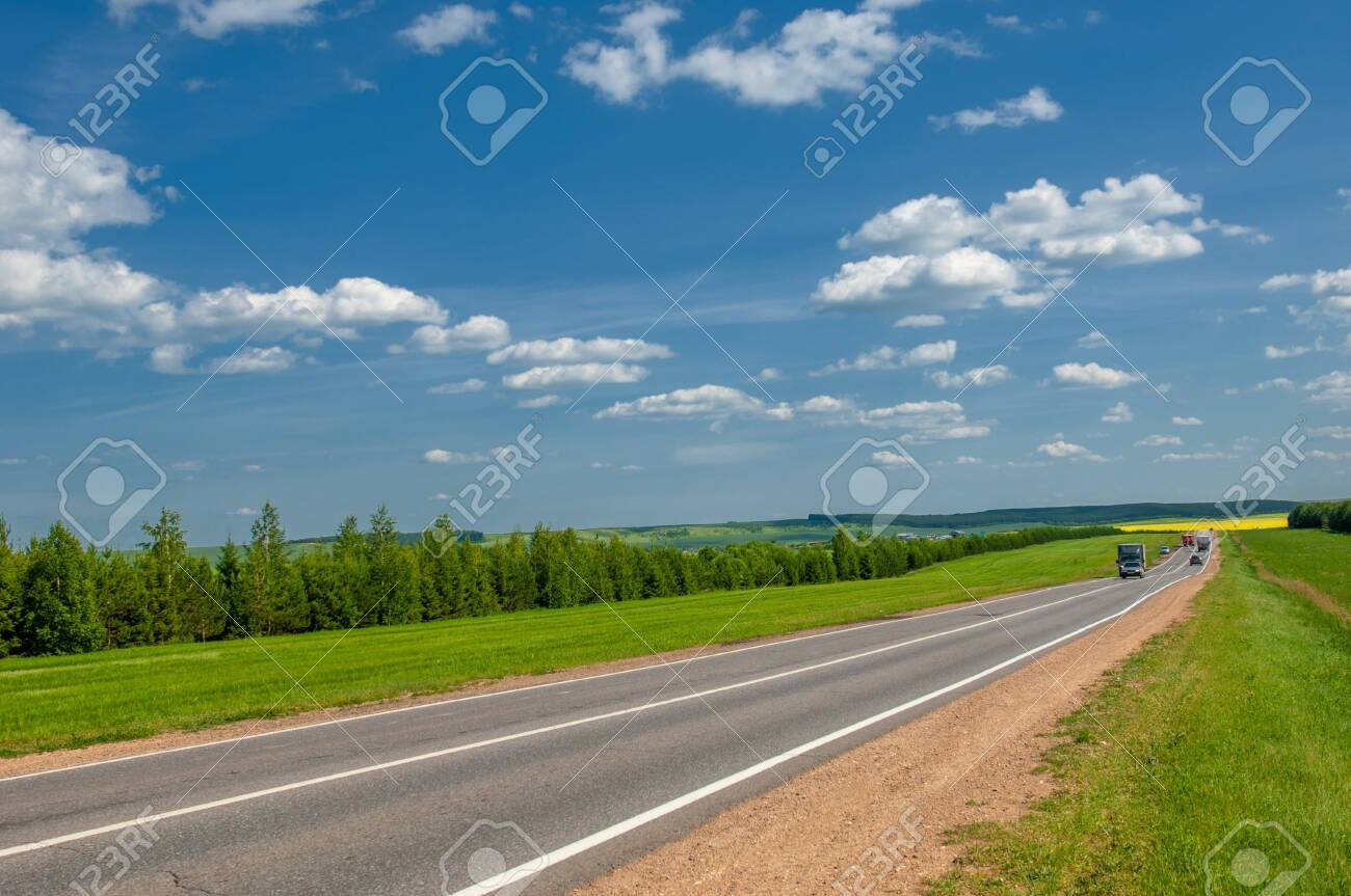 Spring photography, landscape, local road, belonging or relating to a particular area or neighborhood, typically exclusively so. - 141715666