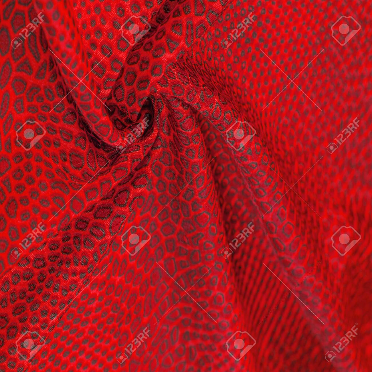 Red Silk Fabric Animal Skin All Projects Are New And Designed Stock Photo Picture And Royalty Free Image Image 141893734