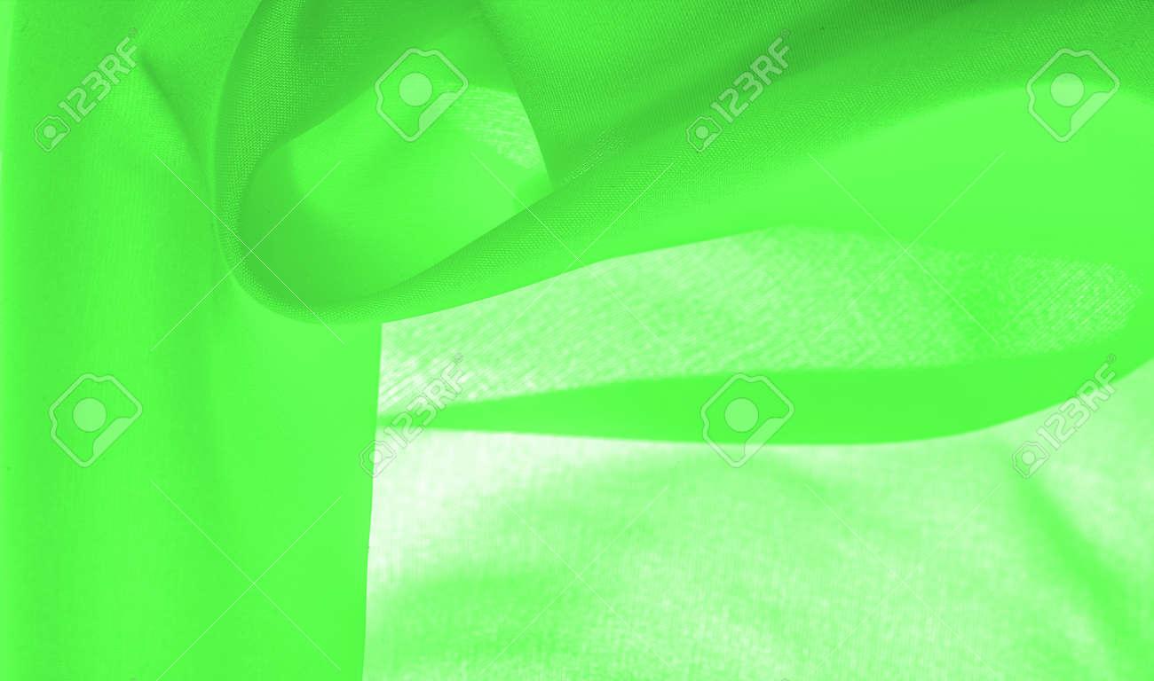 green silk fabric, beautiful smooth elegant, wavy, green satin silk luxury fabric, abstract design. background texture, pattern - 168466203