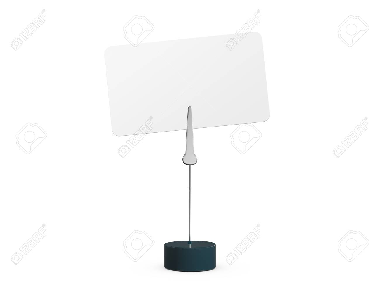 Blank business card attached to card holder, isolated on white background. Stock Photo - 22591842