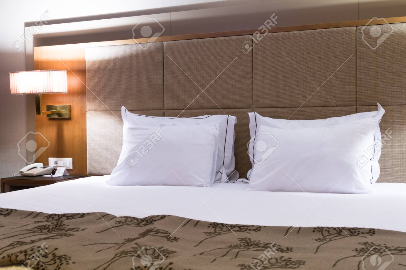 Interior of modern hotel bedroom. Stock Photo - 22721410