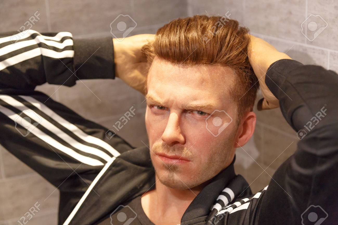 Amsterdam Netherlands July 02 16 David Beckham Figure In Madame Tussauds Wax Museum In Amsterdam Madame Tussauds Museum Is One Of The Most Popular Attraction In Netherlands Stock Photo Picture
