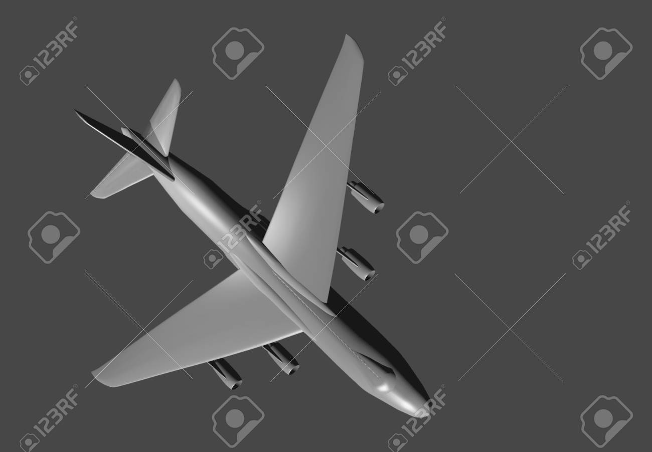 3D model of a large cargo plane